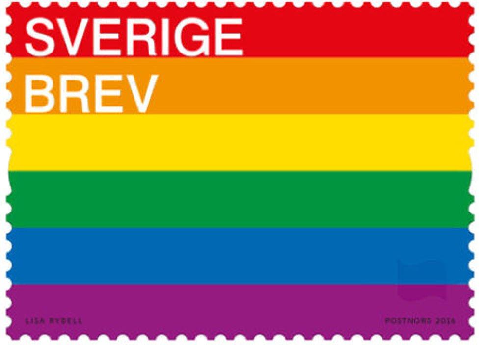 سوئد تمبر رنگین کمانی منتشر می کند