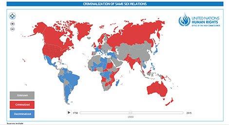 نقشه حق دوست داشتن (چنانچه همجنس گرا هستید)