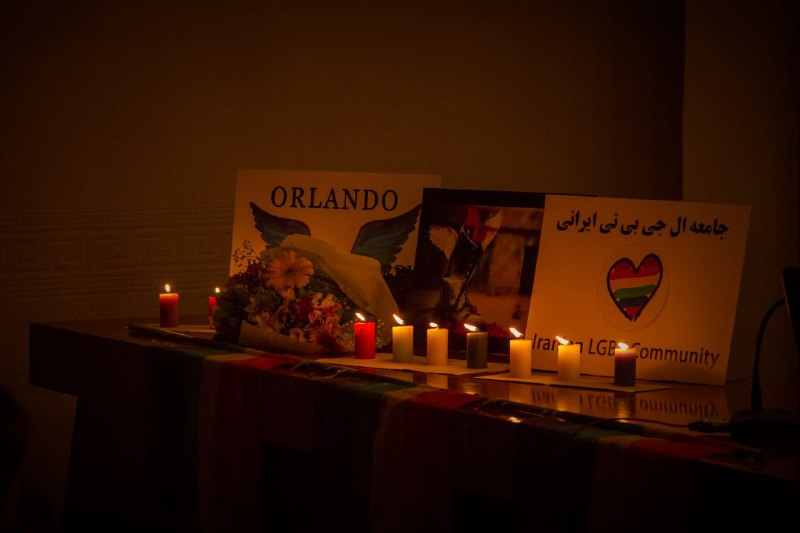دگرباشان پناهجوی ایرانی ساکن ترکیه مراسمی برای یادبود کشته شدگان اورلاندو برگزار کردند